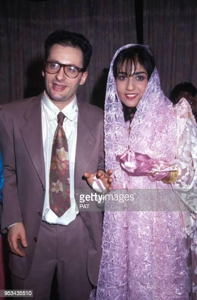 Mariage de Jocya Macias avec Oury Milshtein le 9 février 1992 à Paris, France.
