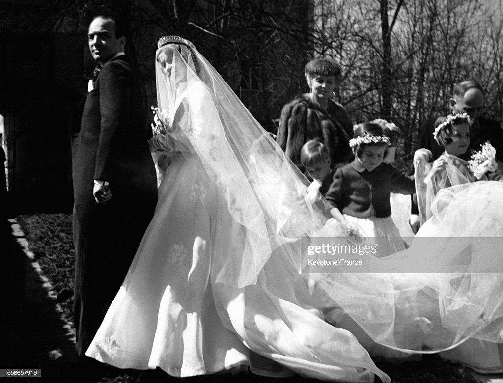 Mariage De L'Archiduc Ferdinand D'Autriche Et De La Comtesse Helene De Toerring-Jettenbach : News Photo
