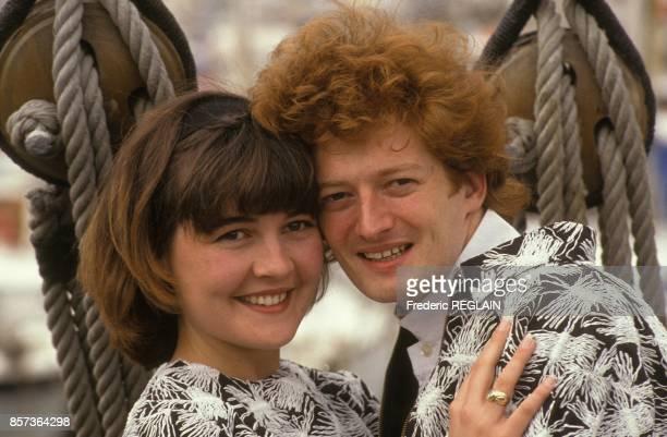 Mariage de l'animateur de television et de radio Childeric Muller dit Childeric avec Joelle le 23 mars 1991 a Marseille France