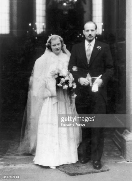 Mariage de l'archiduchesse Agnès Christine d'Autriche et du prince Karl Alfred de Liechtenstein au château de Persenbeug en Autriche le 17 février...