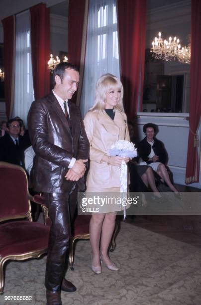 Mariage de Mylène Demongeot avec Marc Simenon le 16 septembre 1968 à Paris France