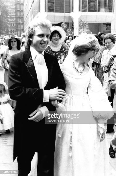 Mariage de Patrice Ryecart et Marsha Fitzalan fille du Duc de Norfolk en juillet 1977 à Londres RoyaumeUni