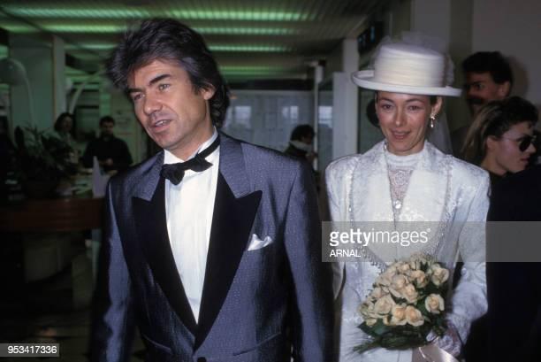 Mariage du chanteur français Daniel guichard en février 1991 à Paris France