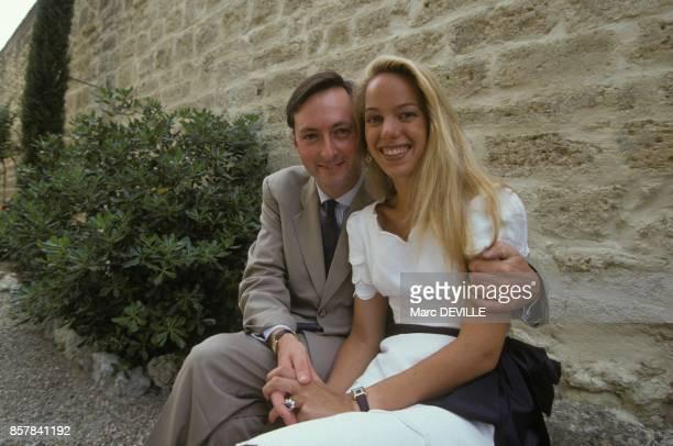 Mariage du comte Jacques de Crussol d'Uzes avec Alessandra Passerin d'Entreves le 10 juillet 1993 a Uzes France