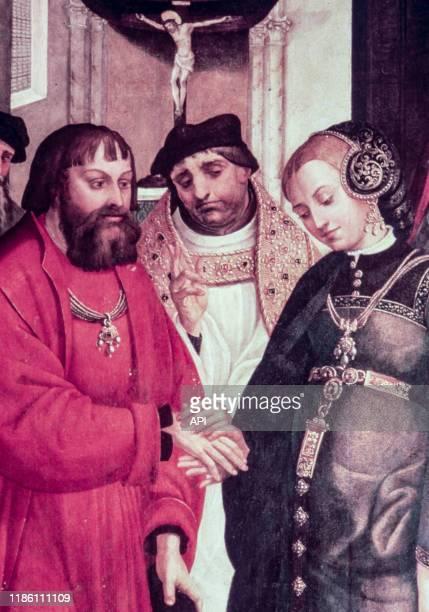 Mariage du roi Manuel Ier du Portugal et d'Eléonore de Habsbourg le 16 juillet 1518