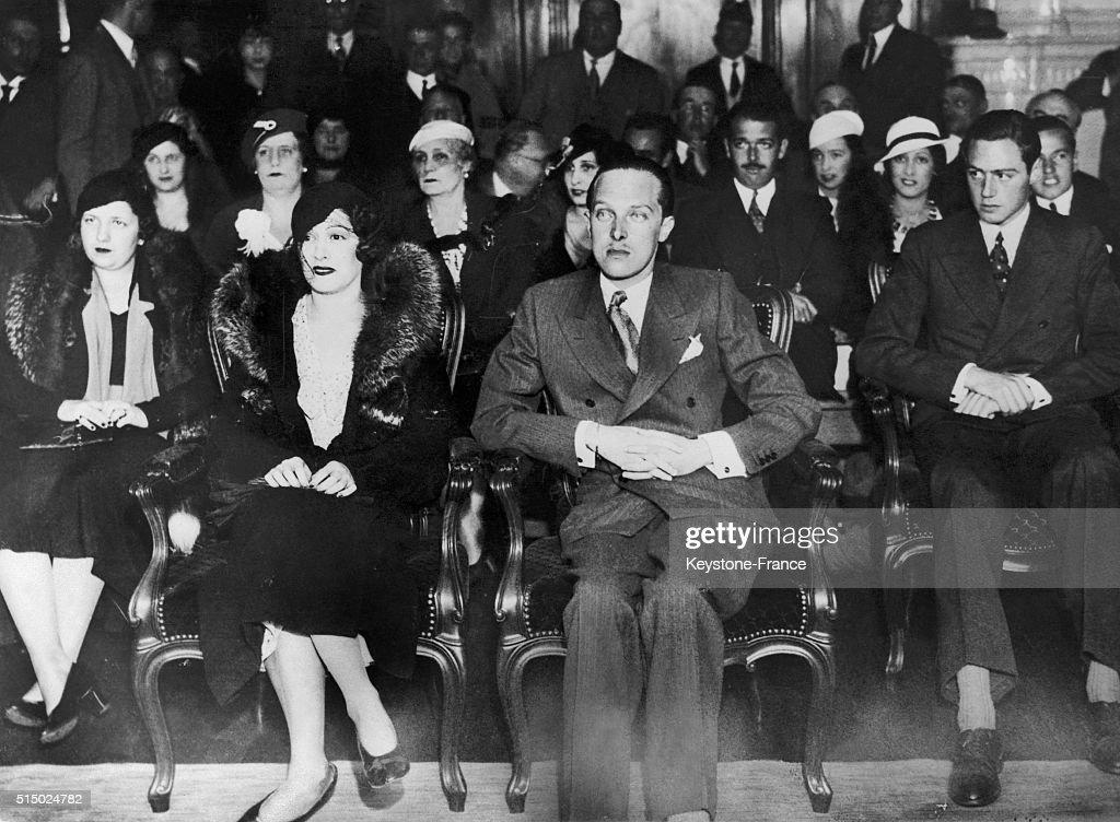 Mariage d'Alphonse de Bourbon, prince des Asturies, en 1933 : News Photo