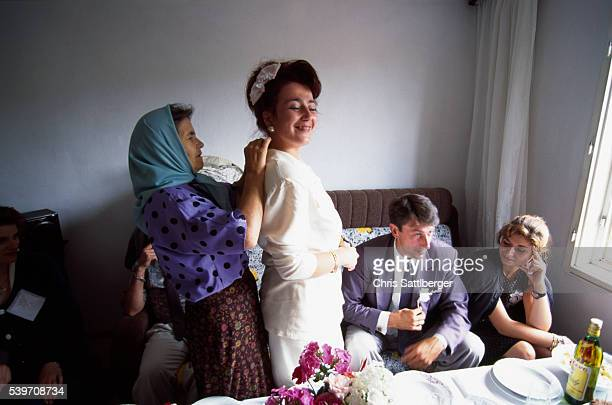 Mariage of Ifet Jasarevic a soldier in the Bosnian army to Aida Mehinovic who works as an interpreter in Sarajevo