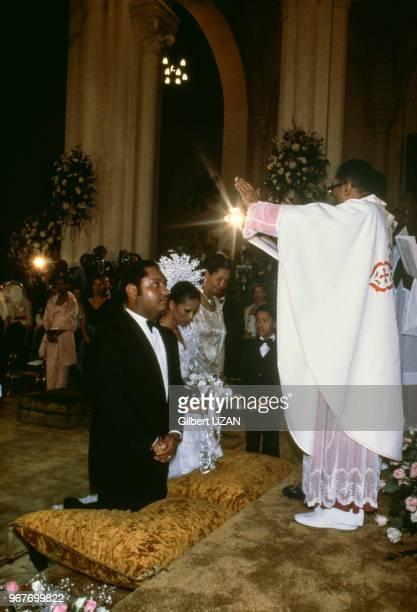 Mariage religieux de Jean-Claude Duvalier avec Michèle Bennett, 28 mai 1980, Port-Au-Prince, Haïti.