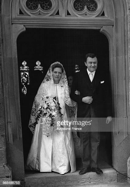 Mariage religieux de la princesse Marguerite de Hohenzollern et du duc CharlesGrégoire de Mecklembourg à la chapelle du château des Hohenzollern en...