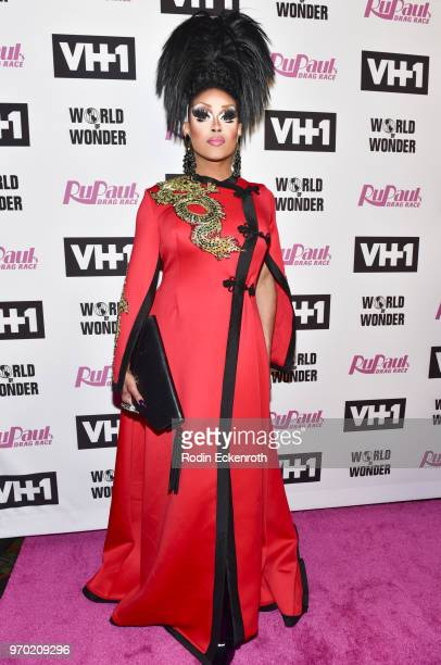 """Mariah Balenciaga attends VH1's """"RuPaul's Drag Race"""" Season 10 Finale at The Theatre at Ace Hotel on June 8, 2018 in Los Angeles, California."""
