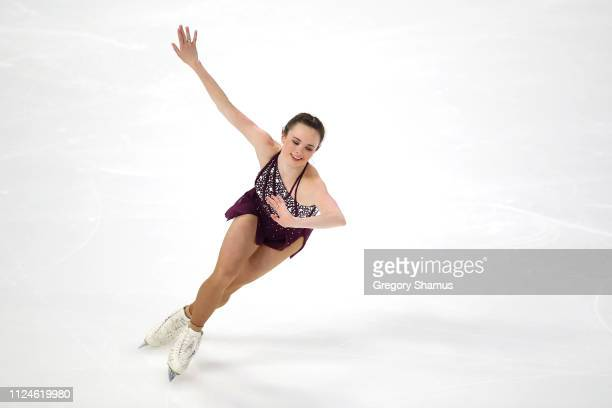 Mariah Bell competes in the championship ladies short program during the 2019 Geico US Figure Skating Championships at Little Caesars Arena on...