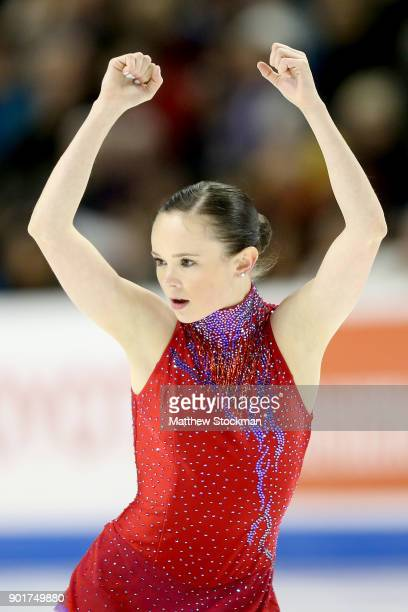 Mariah Bell competes in the Ladies Free Skate during the 2018 Prudential US Figure Skating Championships at the SAP Center on January 5 2018 in San...