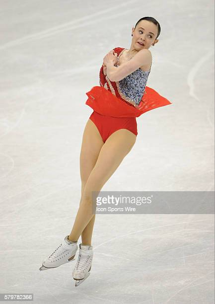 Mariah Bell competes in the ladies Free Skate Program during the Prudential US Figure Skating Championships at the Xcel Energy Center in St Paul...