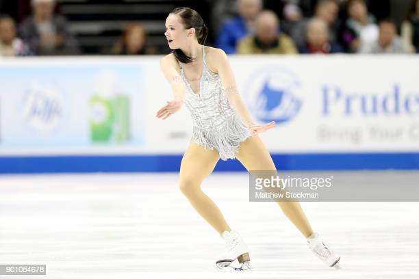 Mariah Bell competes in the Ladies Short Program during the 2018 Prudential US Figure Skating Championships at the SAP Center on January 3 2018 in...