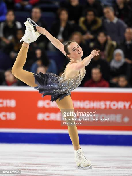 Mariah Bell of the United States competes on day two during the ISU Grand Prix of Figure Skating Skate Canada International at Place Bell on October...
