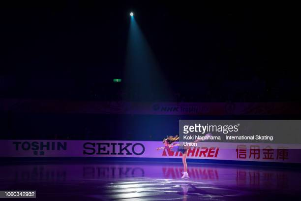 Mariah Bell of the United States performs in the Gala Exhibition during day three of the ISU Grand Prix of Figure Skating NHK Trophy at Hiroshima...