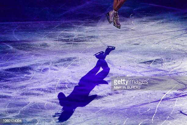TOPSHOT Mariah Bell of the US performs during the exhibition gala of the figure skating NHK Trophy in Hiroshima on November 11 2018