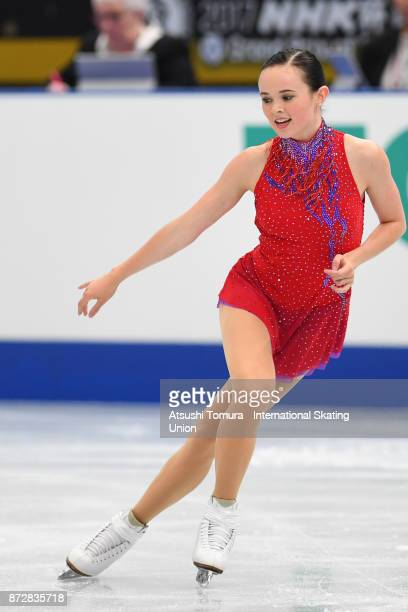 Mariah Bell of the USA competes in the Ladies free skating during the ISU Grand Prix of Figure Skating at on November 11 2017 in Osaka Japan