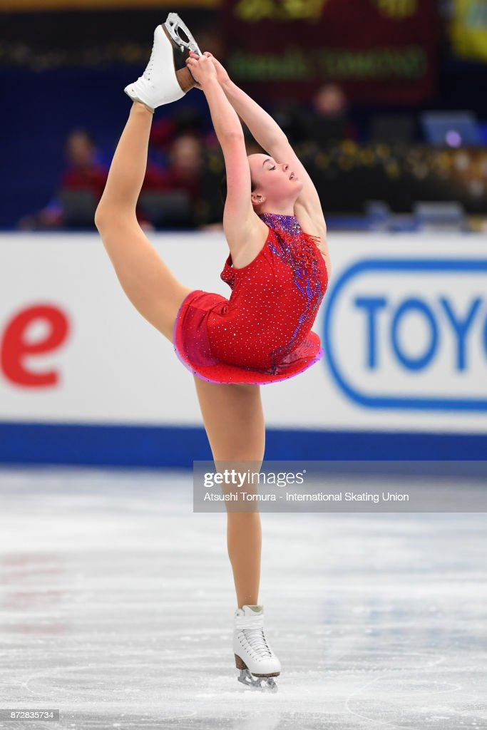 Mariah Bell of the USA competes in the Ladies free skating during the ISU Grand Prix of Figure Skating at on November 11, 2017 in Osaka, Japan.