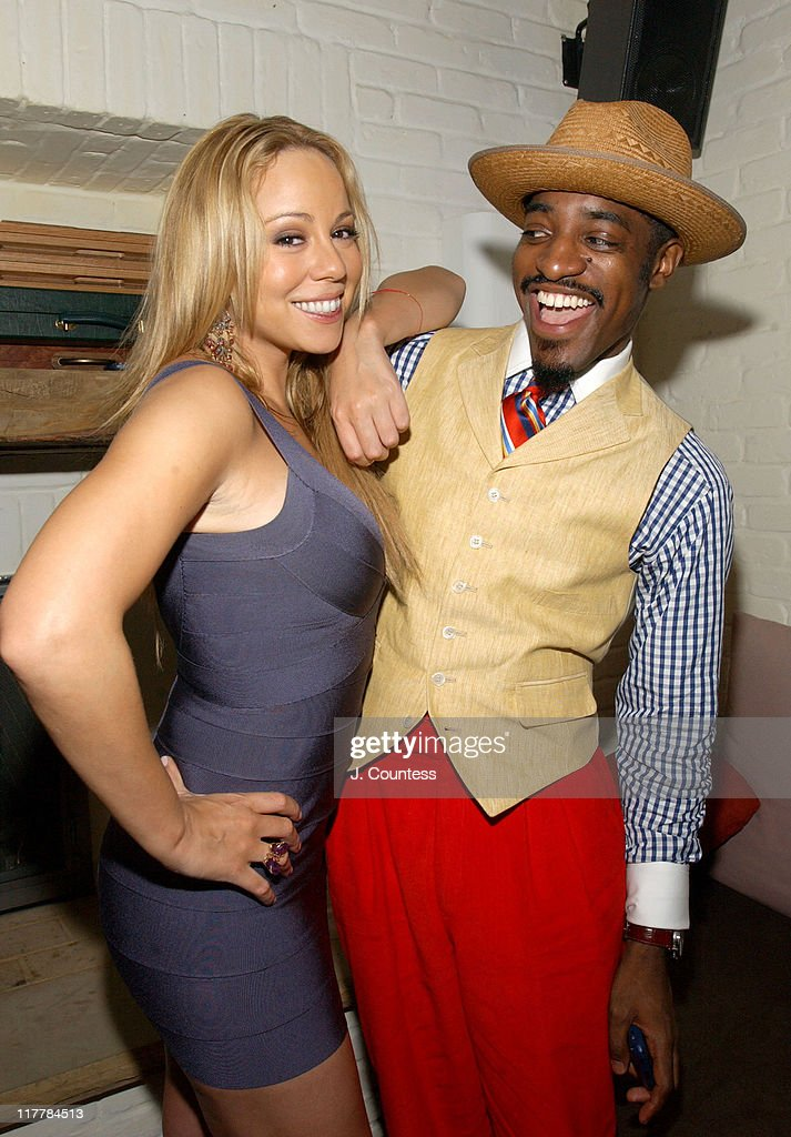 Mariah Carey and Andre 3000 of Outkast during L.A. Reid Birthday Celebration - Inside at Cipriani's in New York City, New York, United States.