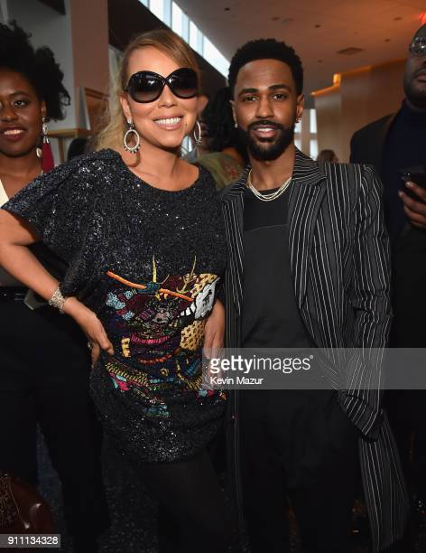 Mariah Carey and Big Sean attend Roc Nation THE BRUNCH at One World Observatory on January 27 2018 in New York City