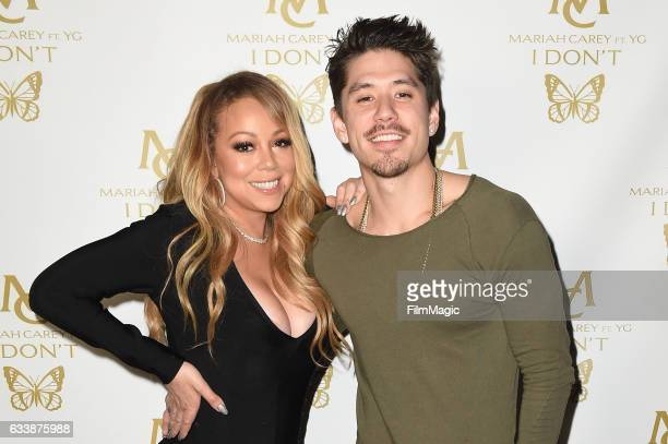 Mariah Carey and Bryan Tanaka attend a private party at Catch for Mariah Carey's New Single 'I Don't' ft YG at Catch LA on February 4 2017 in West...