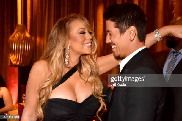 Mariah Carey and Bryan Tanaka attend HBO's Official 2018 Golden Globe Awards After Party on January 7 2018 in Los Angeles California