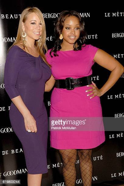 Mariah Carey and Chrisette Michele attend LA REID Hosts LE METIER DE BEAUTE Event at Bergdorf Goodman on October 23 2008 in New York City
