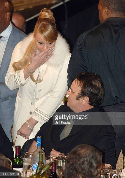 Mariah Carey and Dan Aykroyd during 20th Annual Rock and Roll Hall of Fame Induction Ceremony Audience and Backstage at Waldorf Astoria Hotel in New...