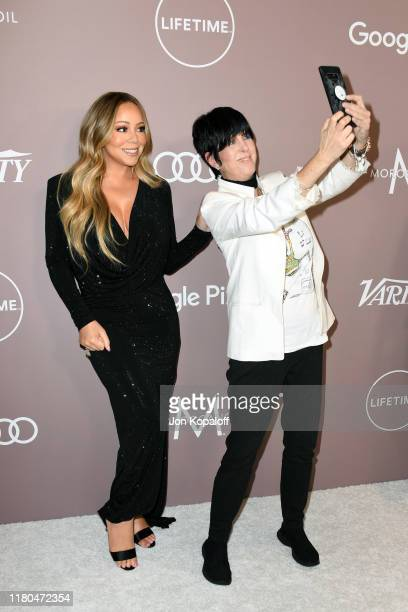 Mariah Carey and Diane Warren attend Variety's 2019 Power of Women Los Angeles presented by Lifetime at the Beverly Wilshire Four Seasons Hotel on...