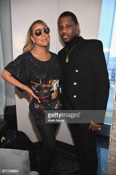 Mariah Carey and Fabolous attend Roc Nation THE BRUNCH at One World Observatory on January 27 2018 in New York City