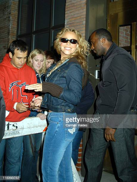 Mariah Carey and Fans during Mariah Carey Sighting Outside Right Track Studios at Right Track Studios in New York City New York United States