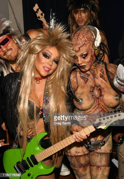 Mariah Carey and Heidi Klum attend Heidi Klum's 20th Annual Halloween Party presented by Amazon Prime Video and SVEDKA Vodka at Cathédrale New York...