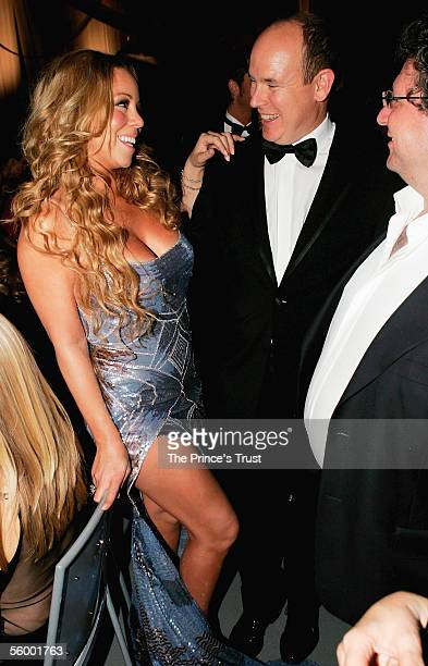 Mariah Carey and HSH Prince Albert of Monaco attends the dinner following the Swarovski Fashion Rocks for The Prince's Trust event at the Grimaldi...