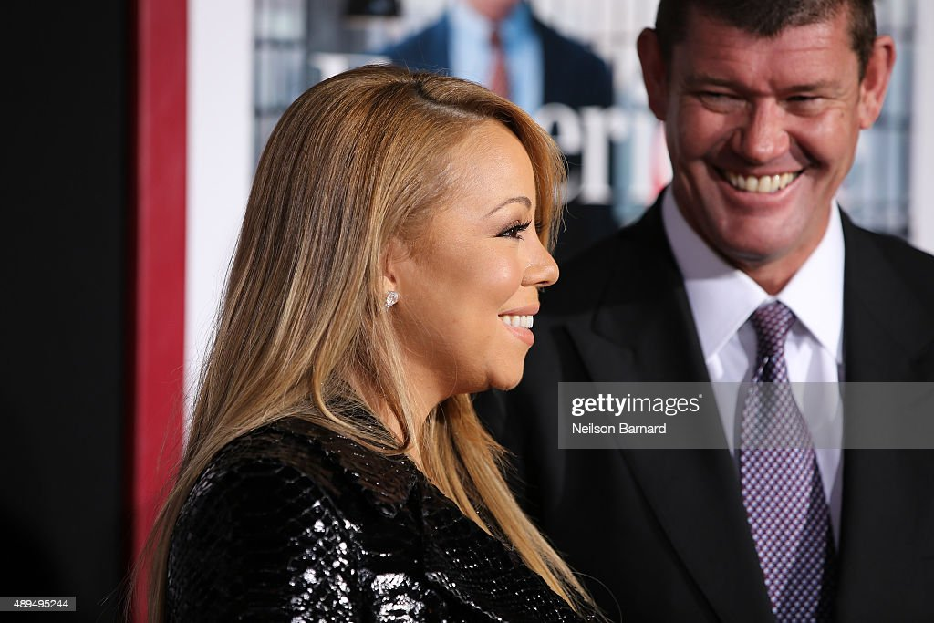 Mariah Carey and James Packer attend 'The Intern' New York Premiere at Ziegfeld Theater on September 21, 2015 in New York City.