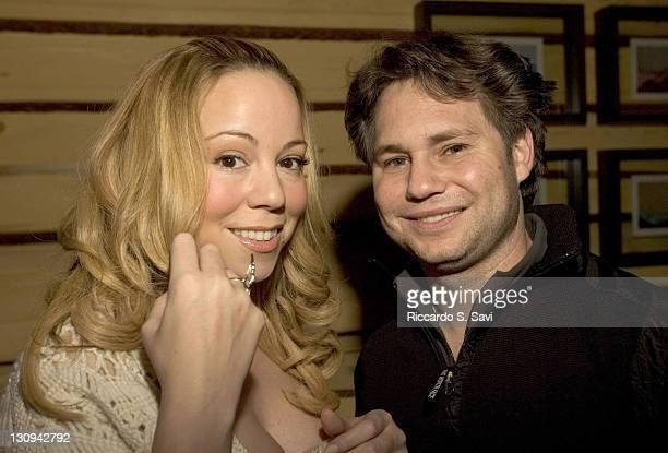 Mariah Carey and Jason Binn during Aspen Peak Magazine and Zino Platinum Cigars Present a Christmas Night Soiree with Host Mariah Carey at Sky Hotel...