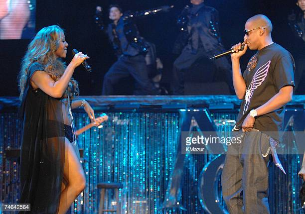 Mariah Carey and JayZ at the Madison Square Garden in New York City New York