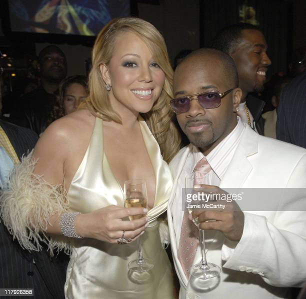 Mariah Carey and Jermaine Dupri during Mariah Carey Celebrates the Release of Her Album 'The Emancipation of Mimi' and its Debut at at Cipriani in...