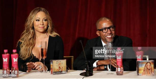 Mariah Carey and Kevin Liles Announce The Launch Of Her Go N'Syde Bottle 'Butterfly' at the Saint Regis Hotel on June 9 2014 in New York City