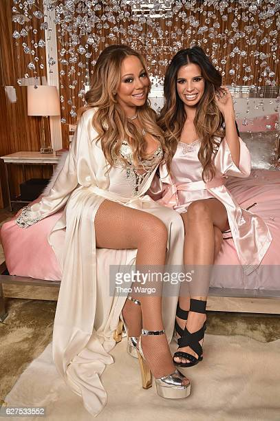 Mariah Carey and Laura Lee attend MAC Cosmetics Mariah Carey Beauty Icon Launch at Baccarat Hotel on December 3 2016 in New York City