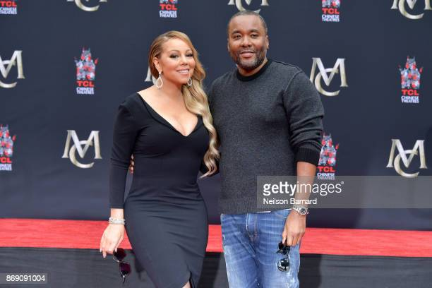 Mariah Carey and Lee Daniels attend the Mariah Carey Hand and Footprint Ceremony at TCL Chinese Theatre on November 1, 2017 in Hollywood, California.