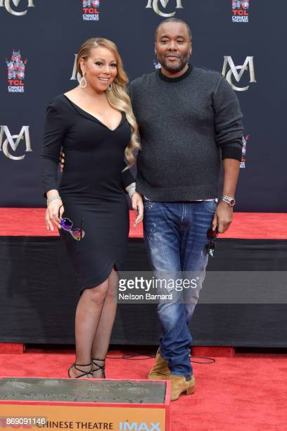Mariah Carey and Lee Daniels attend the Mariah Carey Hand and Footprint Ceremony at TCL Chinese Theatre on November 1 2017 in Hollywood California