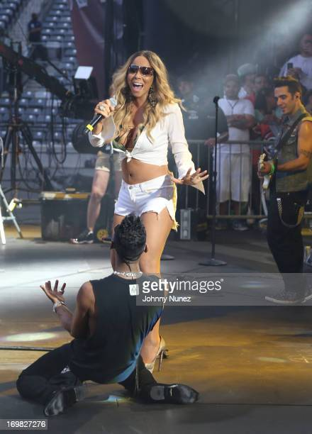 Mariah Carey and Miguel perform during HOT 97 Summer Jam XX at MetLife Stadium on June 2, 2013 in East Rutherford, New Jersey.