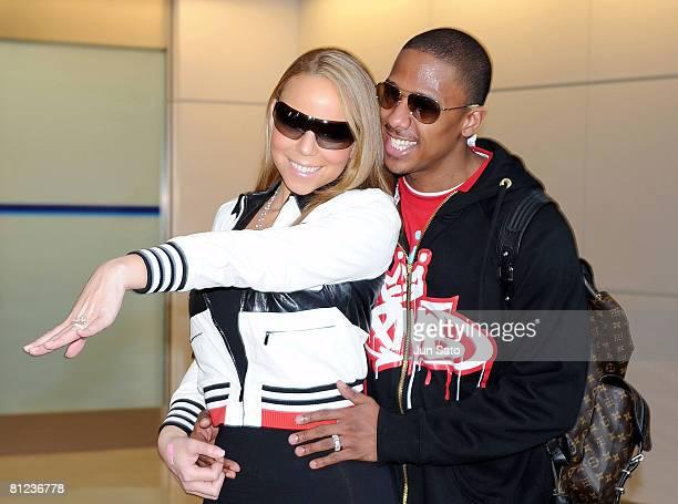 Mariah Carey and Nick Cannon arrive at Narita International Airport on May 26, 2008 in Narita, Chiba, Japan. Mariah Carey is to perform in MTV Video...