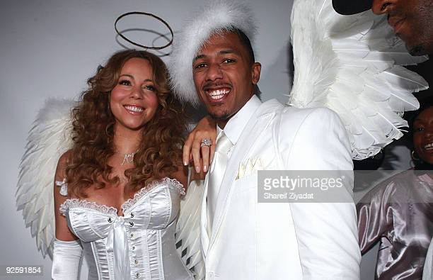 Mariah Carey and Nick Cannon attend a Halloween celebration at M2 Ultra Lounge on October 31, 2009 in New York City.