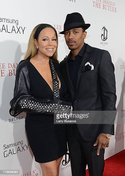 Mariah Carey and Nick Cannon attend Lee Daniels' 'The Butler' New York premiere hosted by TWC DeLeon Tequila and Samsung Galaxy on August 5 2013 in...