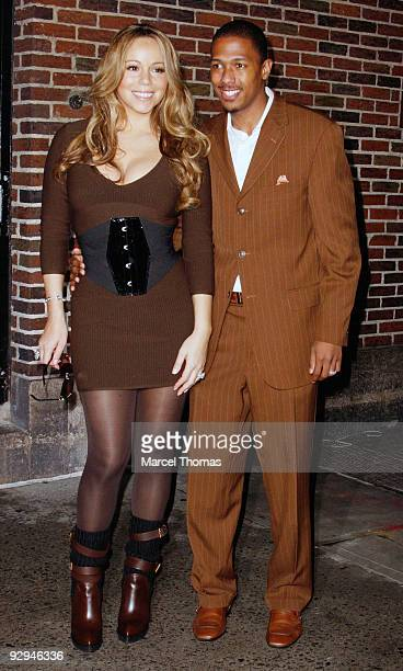 Mariah Carey and Nick Cannon visit 'Late Show With David Letterman' at the Ed Sullivan Theater on November 9 2009 in New York City