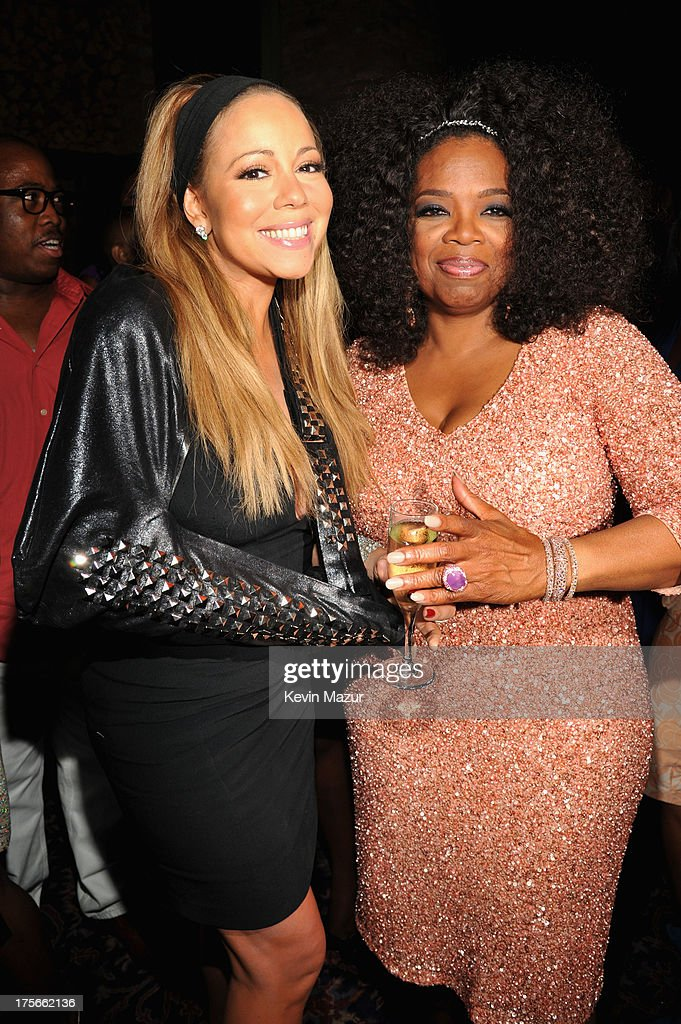 Mariah Carey (L) and Oprah Winfrey attend Lee Daniels' 'The Butler' New York premiere, hosted by TWC, DeLeon Tequila and Samsung Galaxy on August 5, 2013 in New York City.