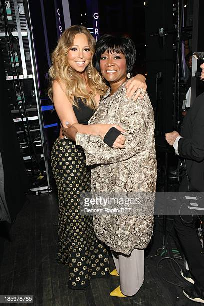 Mariah Carey and Patti LaBelle attend BET Black Girls Rock at New Jersey Performing Arts Center on October 26 2013 in Newark New Jersey