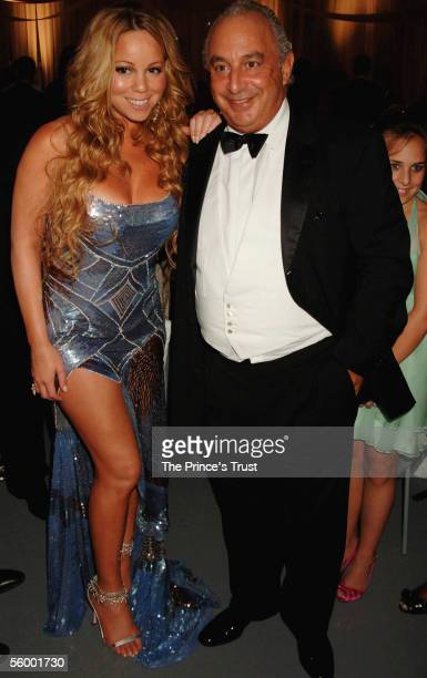 Mariah Carey and Phillip Green attend the dinner following the Swarovski Fashion Rocks for The Prince's Trust event at the Grimaldi Forum October 17...